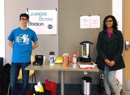 Hot chocolate sale fundraising event hosted by UofA LBB